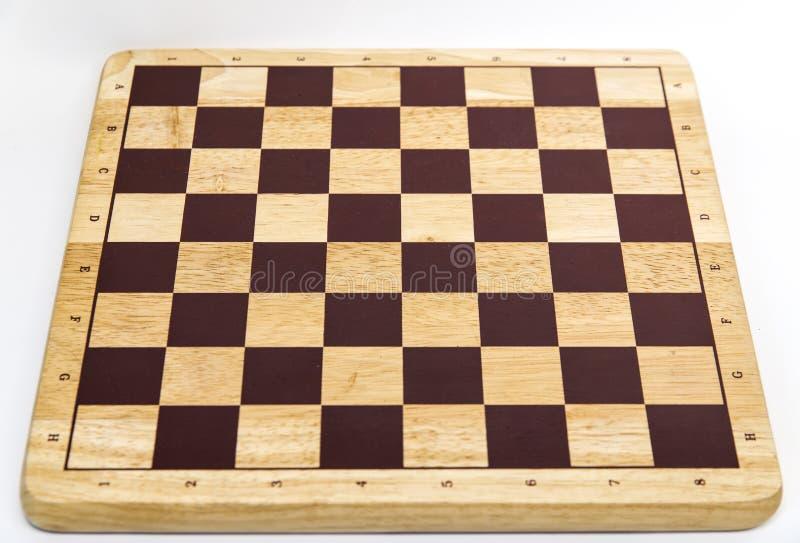 Trätomt schackbräde royaltyfri fotografi