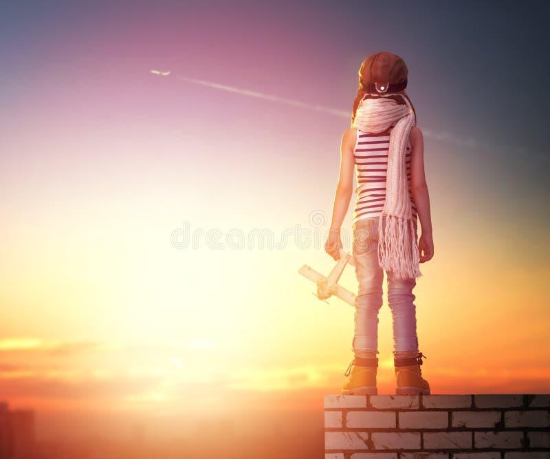 Träume des Werdens ein Pilot lizenzfreies stockfoto