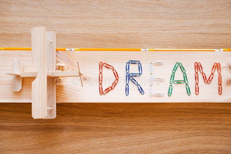 Träume kommen zutreffend stockfotografie