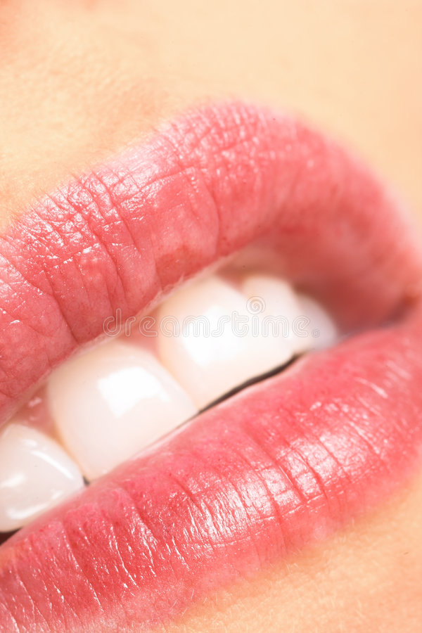 Träumen der Lippen stockbild