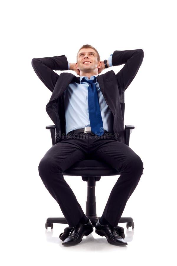 Träumen des Geschäftsmannes stockfotografie