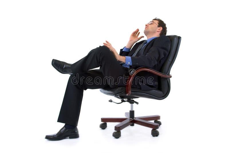 Träumen des Geschäftsmannes stockfotos