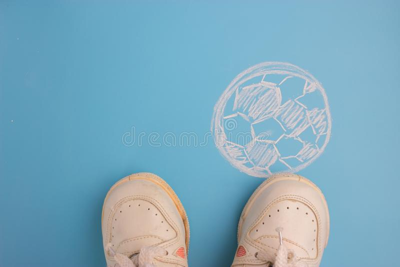Träumen des Werdens ein Fußball stockbilder