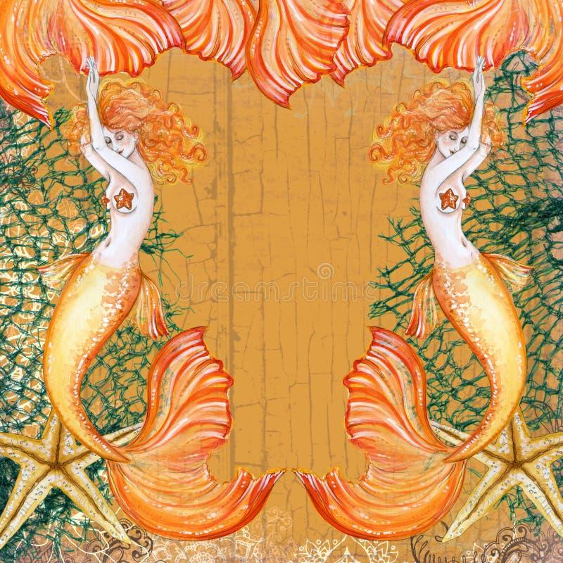 Träumen von Meerjungfrau Starfish stock abbildung