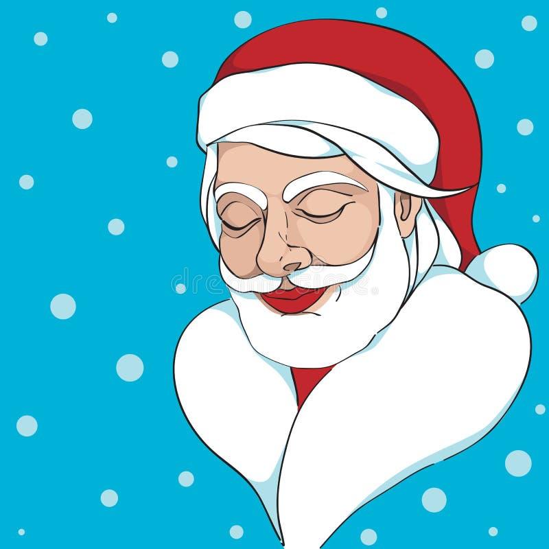 Träumen von Santa Claus vektor abbildung