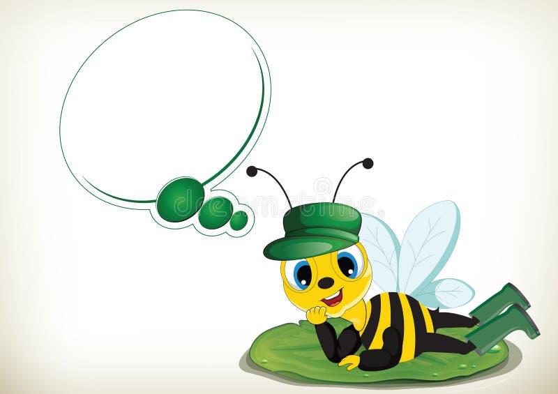 Träumer-Biene vektor abbildung