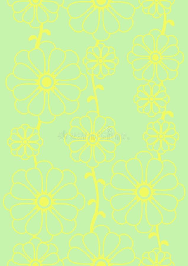 Träumerisches grünes nahtloses Blumen lizenzfreie abbildung