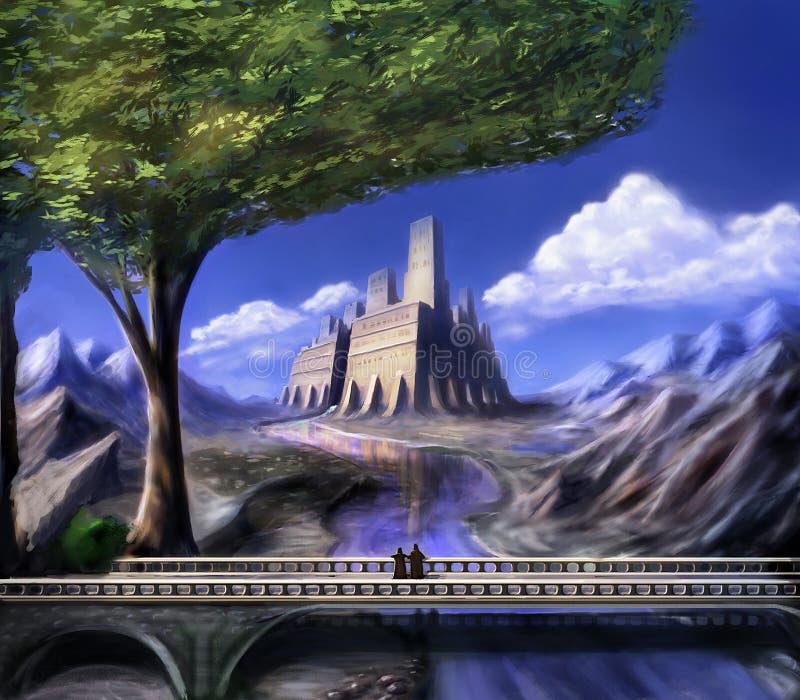 Träumerisches Schloss der Fantasie lizenzfreie abbildung