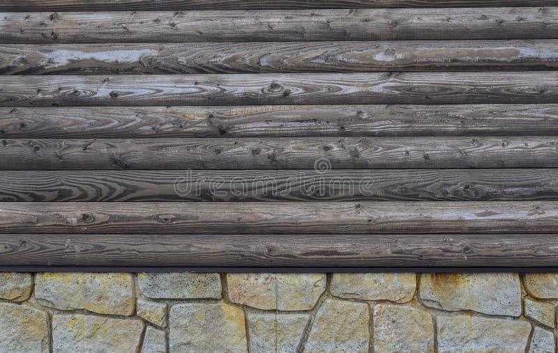 Trävägg av berghuset royaltyfria foton