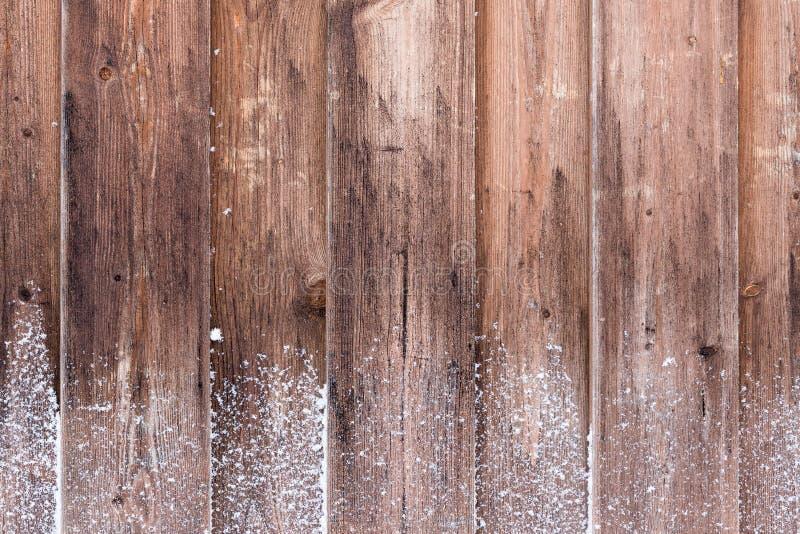 Trävägg som täckas med rimfrost royaltyfri fotografi