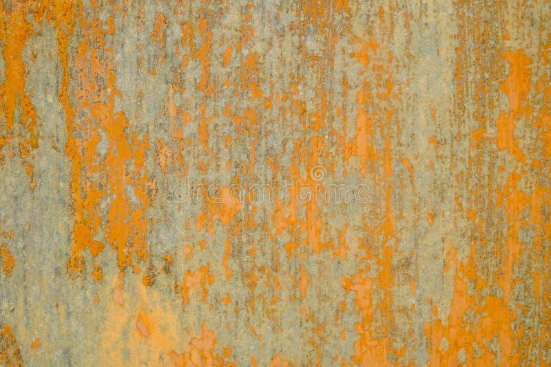 Träyttersida målat abstrakt orange trä arkivfoto