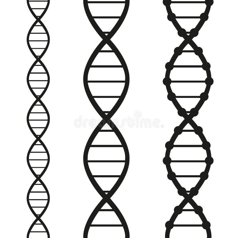 Trådar av DNA:t stock illustrationer