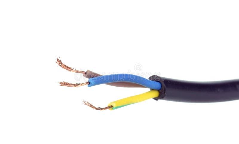 Trådar för elektrisk kabel arkivfoton
