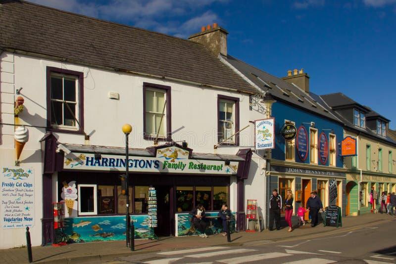 Trådgata dingle ireland royaltyfri fotografi