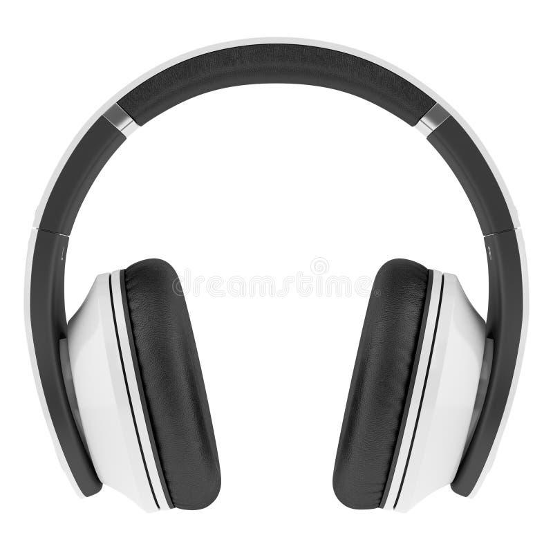 Trådlös hörlurar för vit som och för svart isoleras på vit arkivbilder