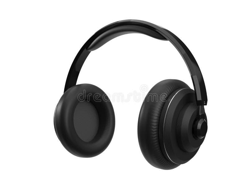 Trådlös headphone med modern design bakgrund isolerad white illustration 3d vektor illustrationer