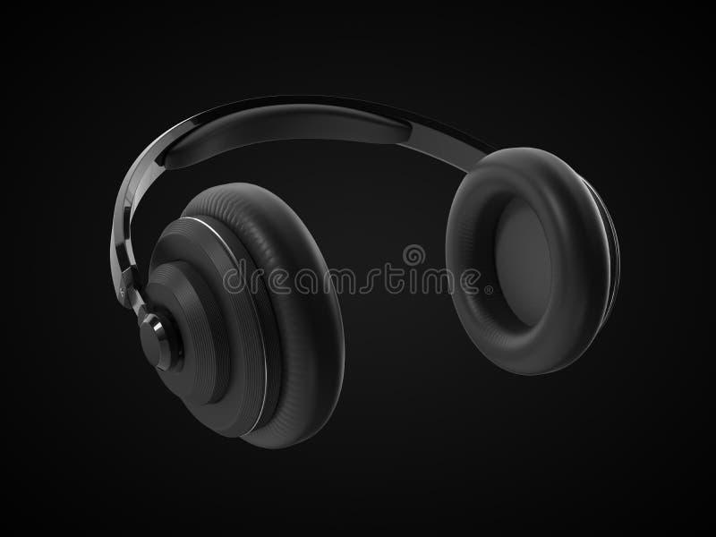 Trådlös headphone med modern design illustration 3d stock illustrationer