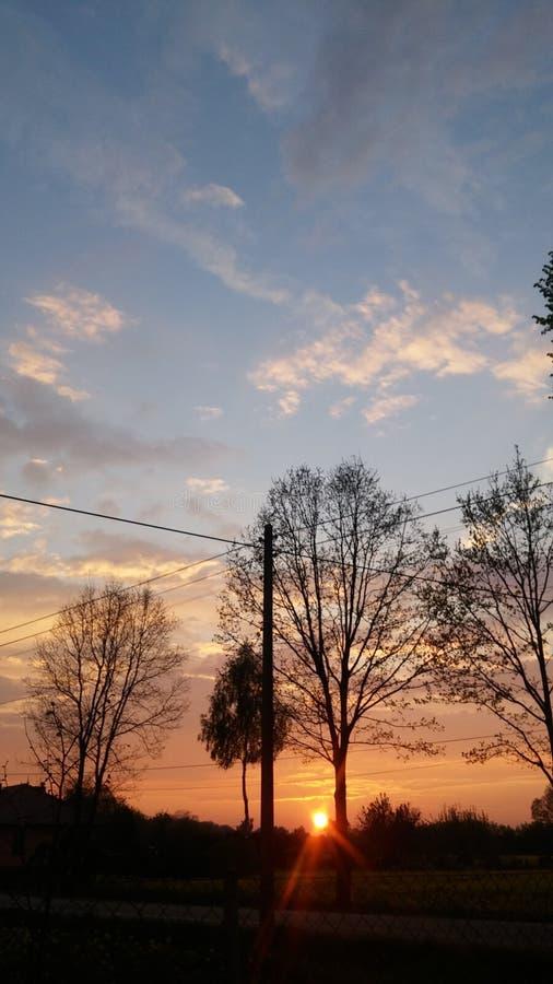 Trådlös solnedgång royaltyfri bild