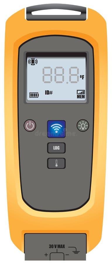 Trådlös temperaturövervakning stock illustrationer