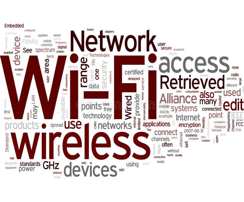 trådlösa fi-nätverkswi stock illustrationer