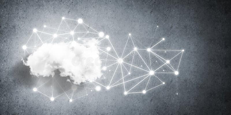 Trådlösa teknologier för anslutning och deladata som abstrakt begrepp royaltyfri illustrationer