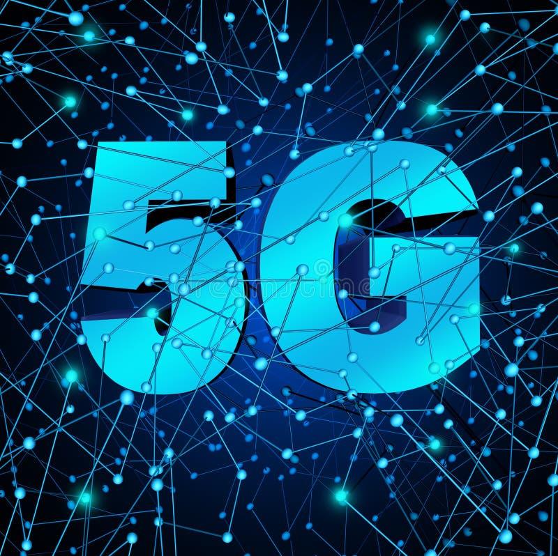 trådlöst system för nätverk 5G vektor illustrationer