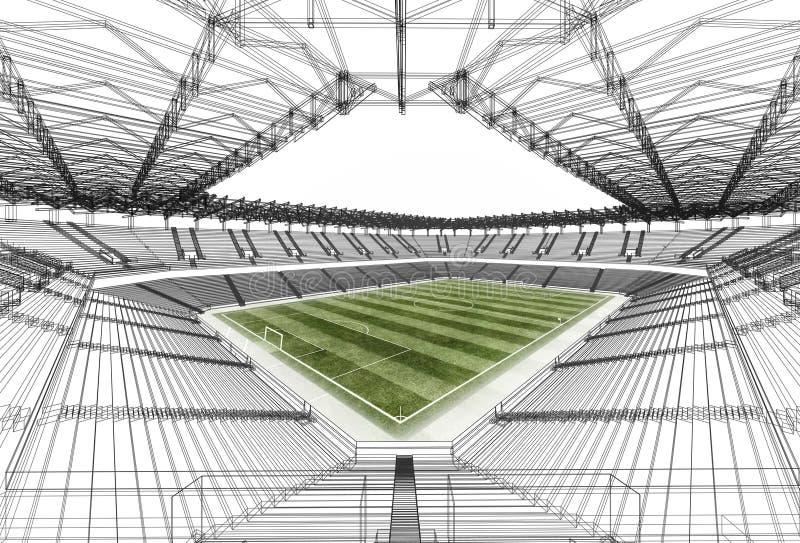 Trådramstadion vektor illustrationer