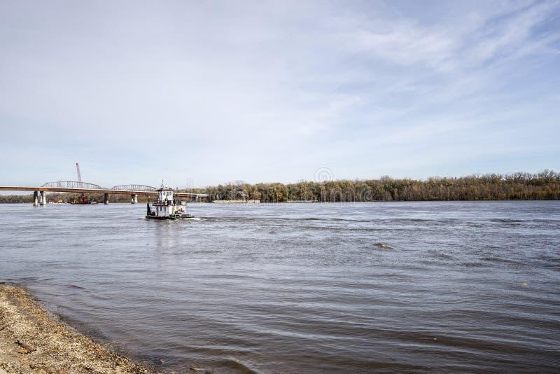 Trågbåten Mississippi royaltyfri fotografi