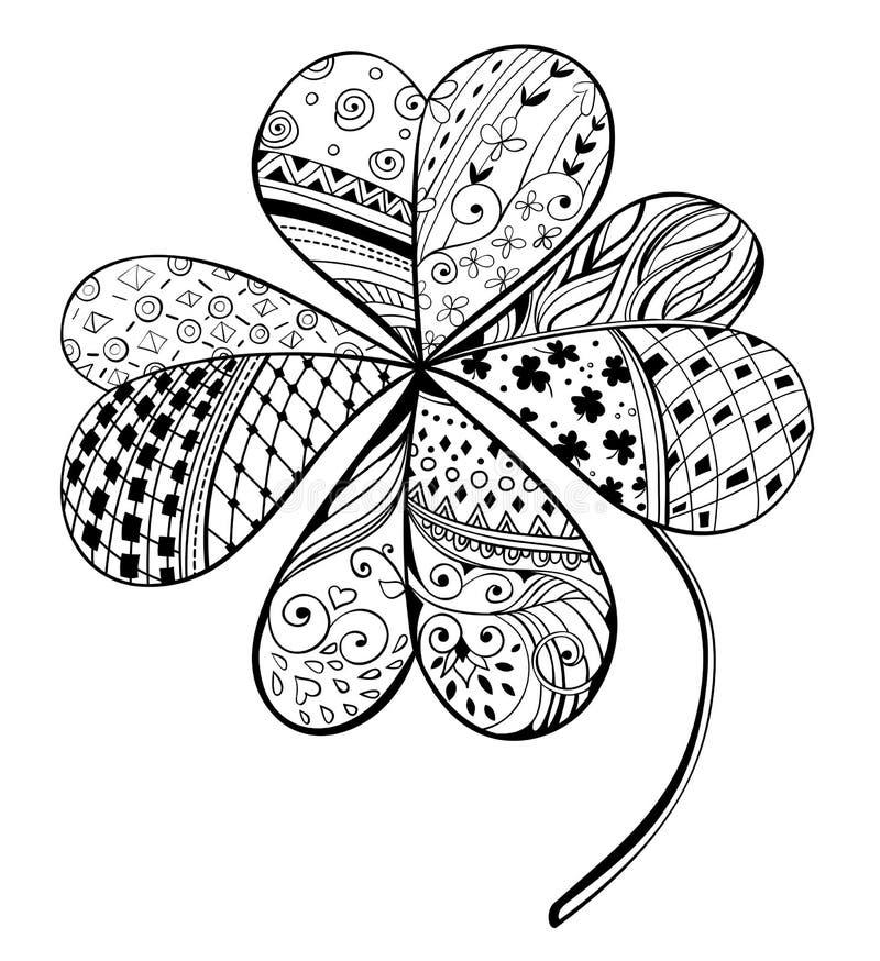 Trèfle illustration de vecteur