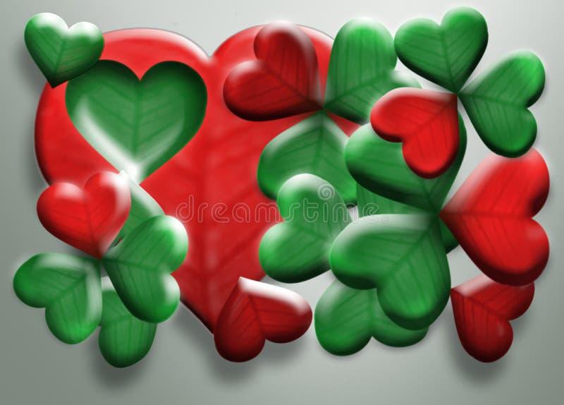 Trèfle - coeur illustration de vecteur
