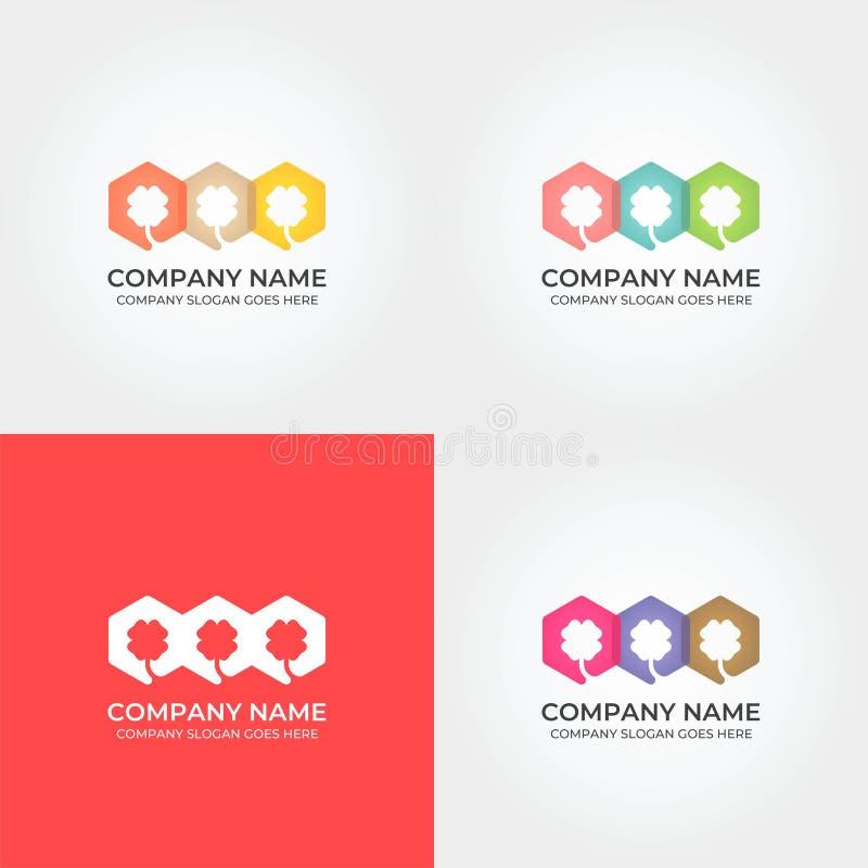 Trèfle coloré Logo Icon Template image stock