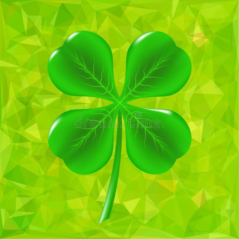 Trèfle vert de feuille illustration de vecteur