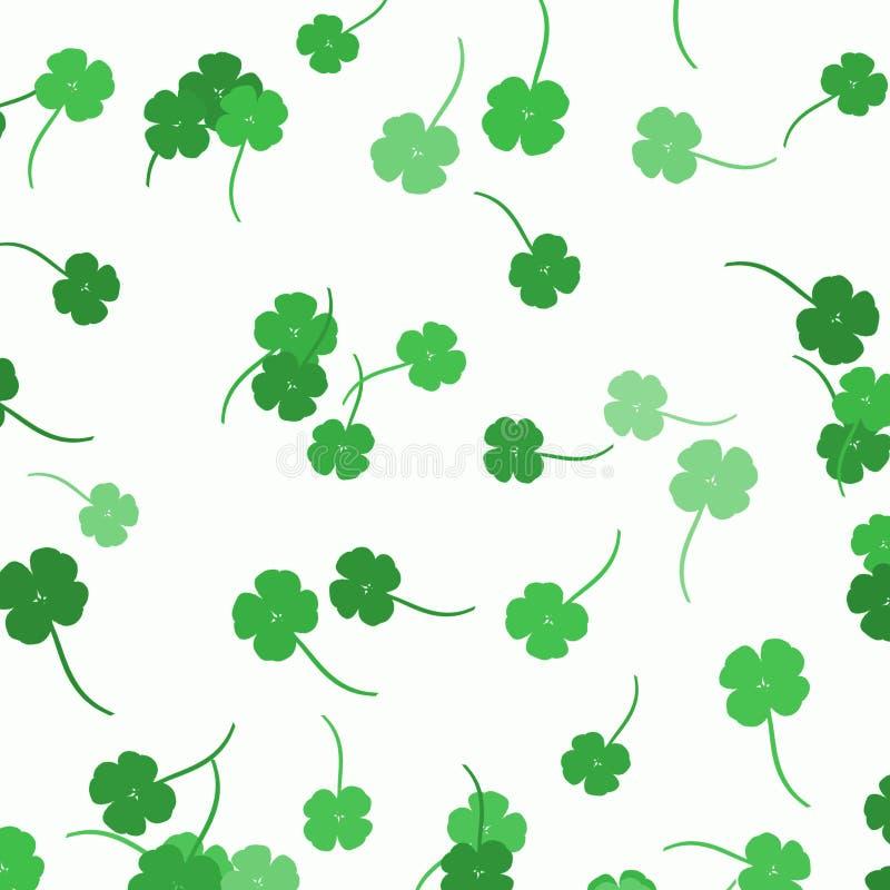 Trèfles dispersés - fond de jour du ` s de St Patrick illustration stock