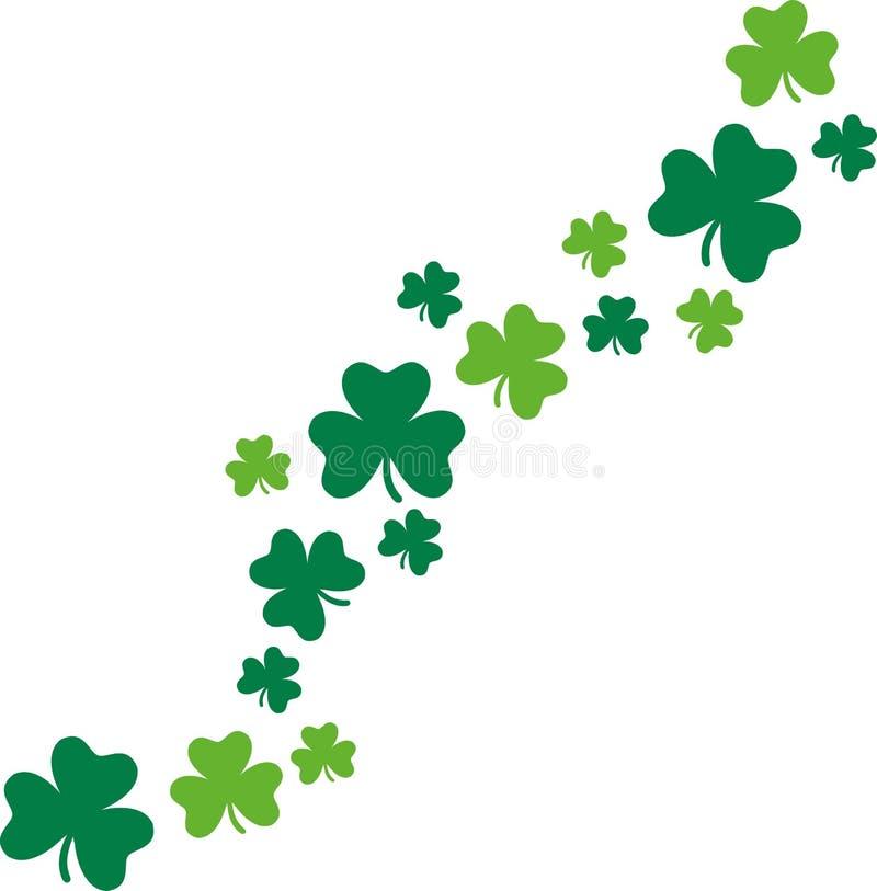 Trèfles heureux de fond de carte de jour du ` s de St Patrick illustration de vecteur
