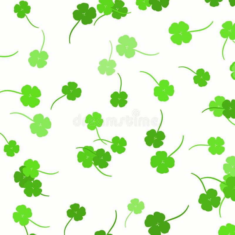 Trèfles verts - fond de jour du ` s de St Patrick illustration de vecteur