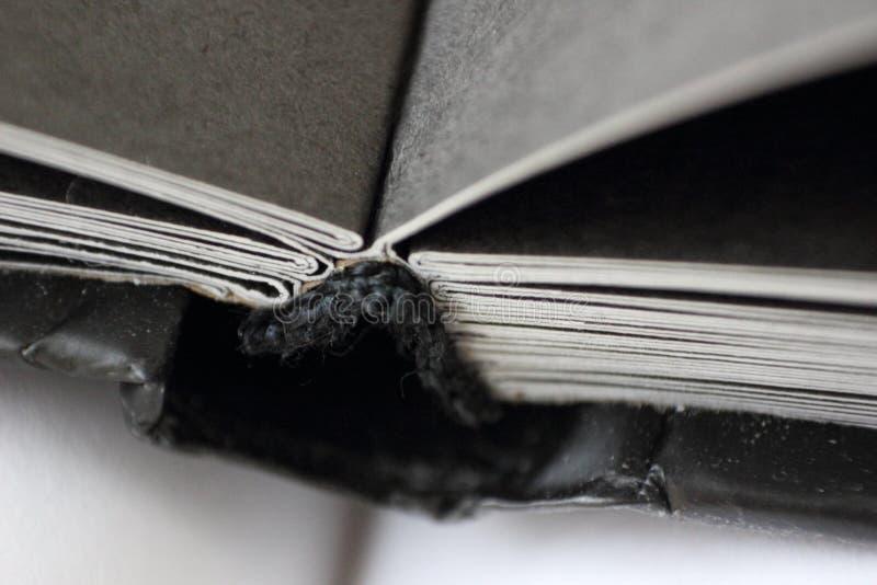 Très le plan rapproché le cahier est ouvert photo stock