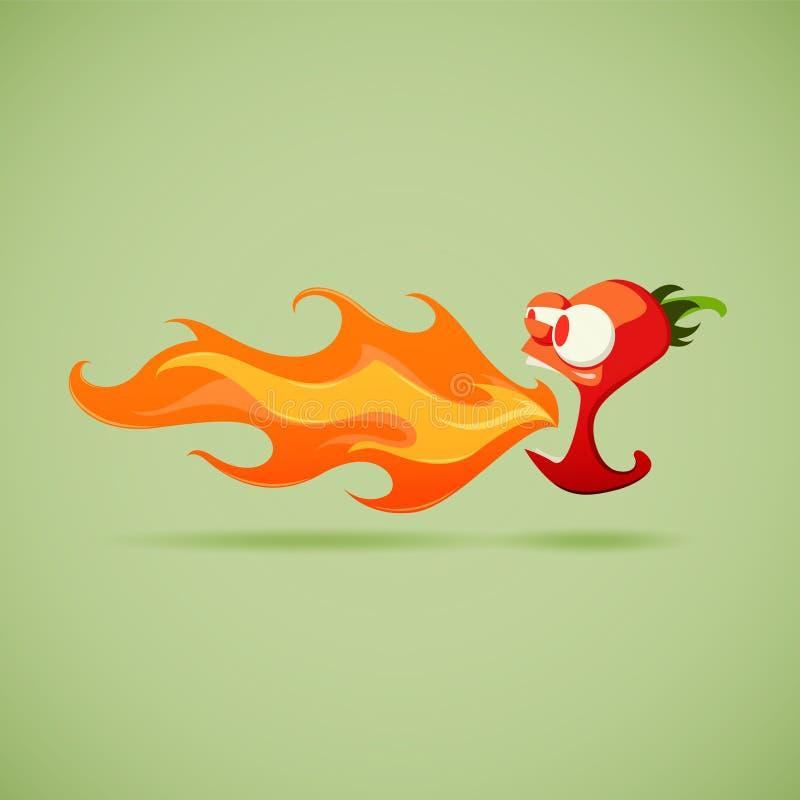 Très poivre de piment fort illustration stock