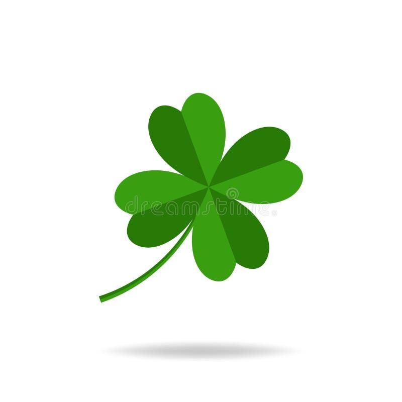 Trébol de las hojas del vector cuatro, icono del día del ` s de St Patrick libre illustration