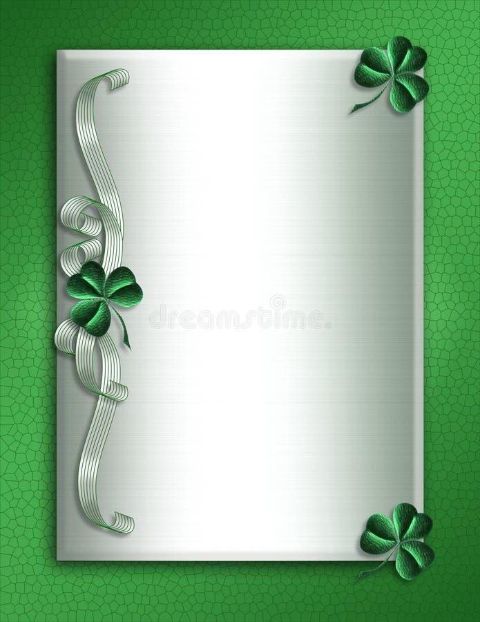 Tréboles de la frontera del día del St Patricks libre illustration
