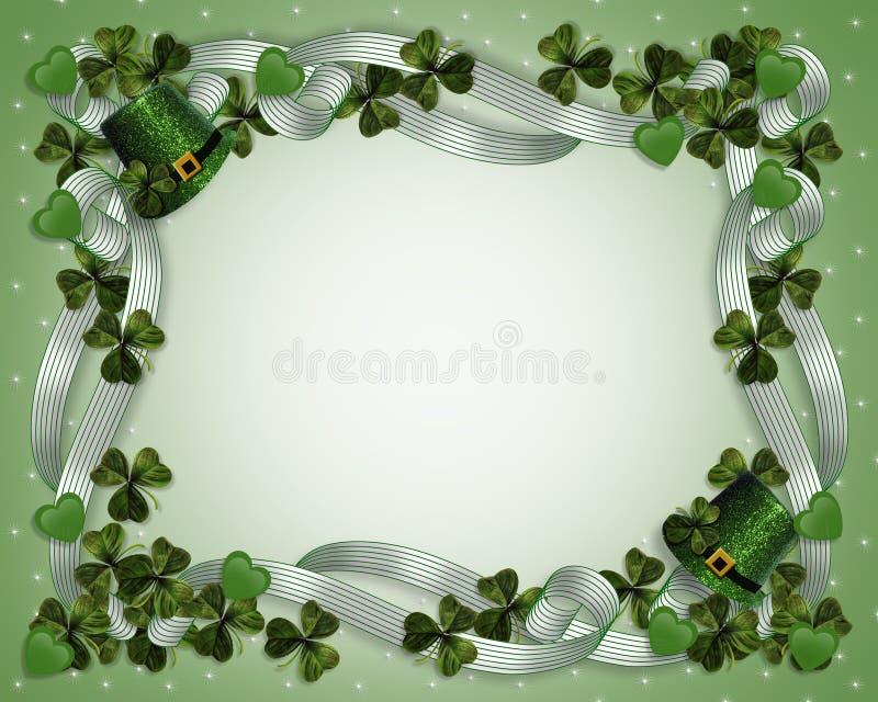 Tréboles de los sombreros de la frontera del día del St Patricks ilustración del vector