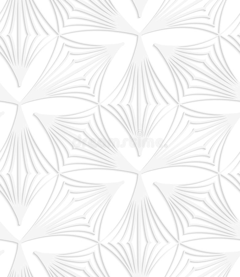 Tréboles rayados puntiagudos blancos de papel libre illustration