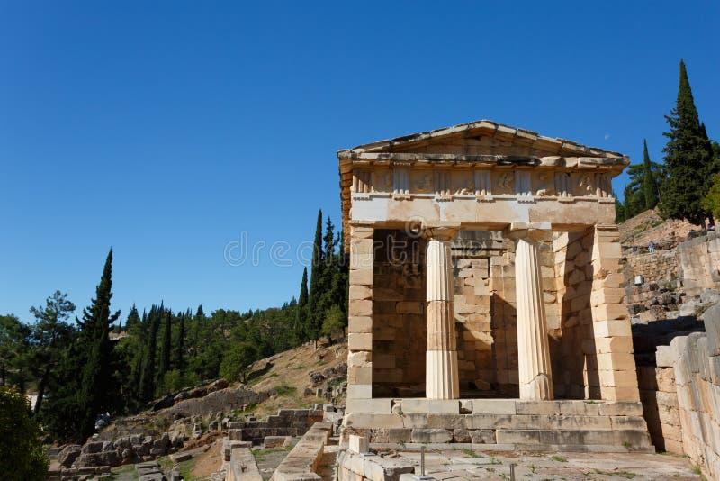 Trésor athénien à Delphes image stock