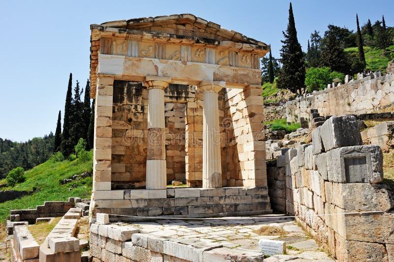 Trésor athénien à Delphes photo stock