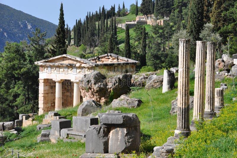 Trésor athénien de Delphes photo libre de droits
