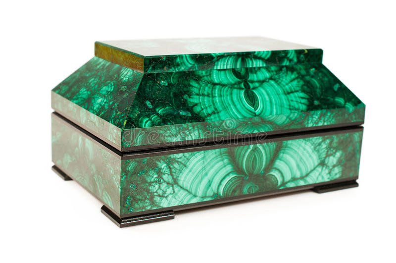Trésor-boîte de malachite image stock