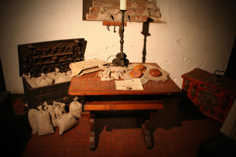 Trésor dans le château de Malbork photographie stock libre de droits