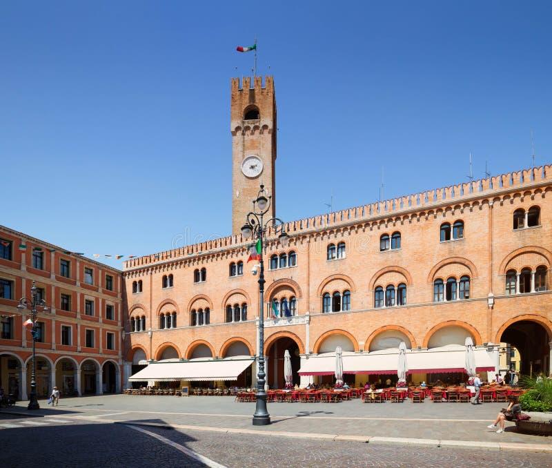 Trévise en l'Italie/vue du vieux sqare photos stock