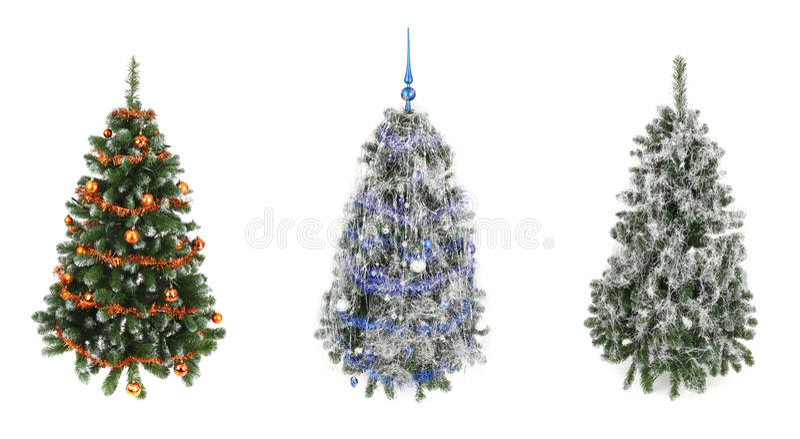 Três árvores de Natal imagem de stock