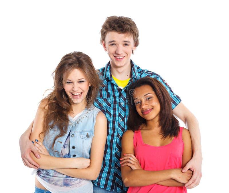 Três adolescentes novos imagem de stock royalty free