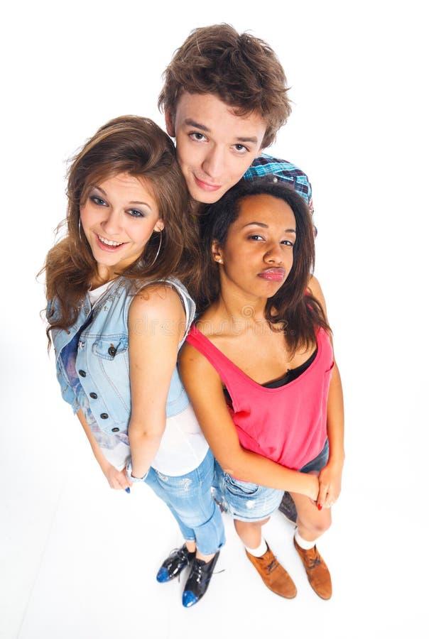 Três adolescentes novos fotos de stock